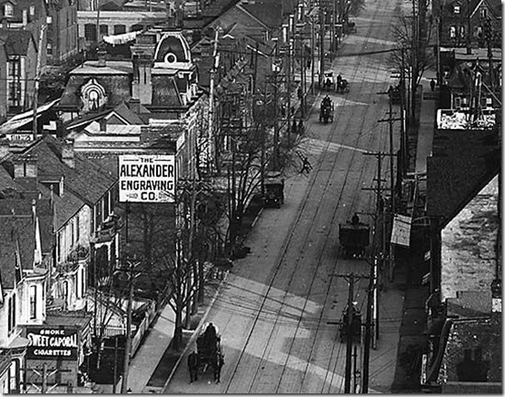 adelaide east from Spadina 1912