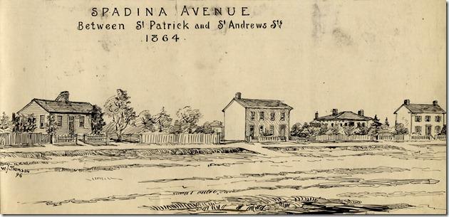 Spadina, north from College, 1870Tor. Ref. Lib.