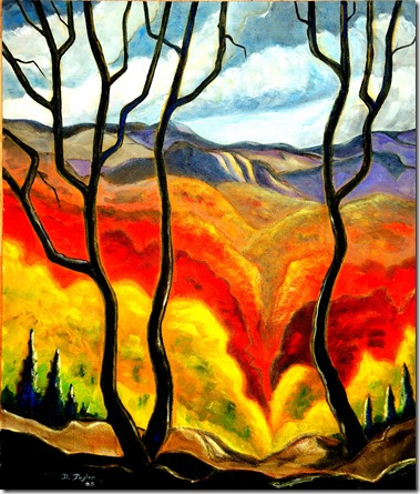 24. 18x24 massonite - 2005 Caledon Hills