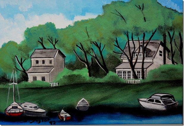 115.  8x10  1992 Houses, Ward's Island, south side
