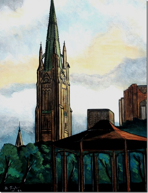 116.  16x20  June evening in 1993, St. James, King East,