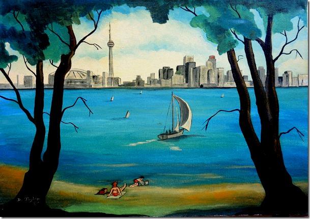 6.  16x20 -- 1989  Toronto Skyline