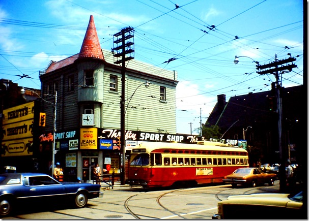 PCC car, Queen and Church St. 1970s