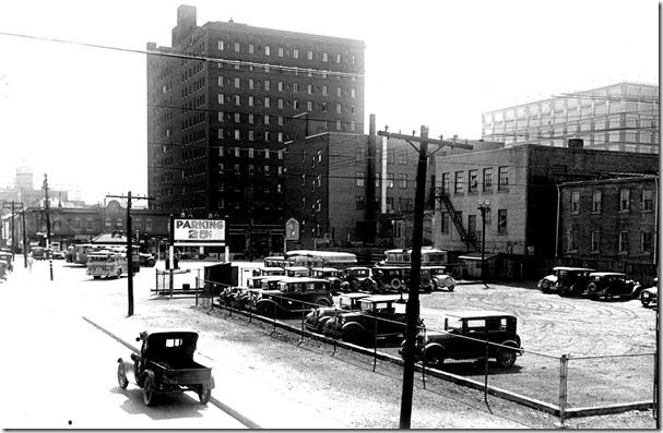 Motor coach terminal property - Edward and Elizabeth sts, looking east, (Buildings Department) – June 10, 1931