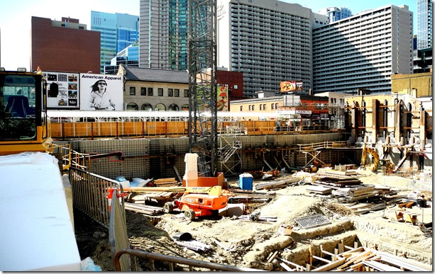 site of A&A. west to Yonge, 2013