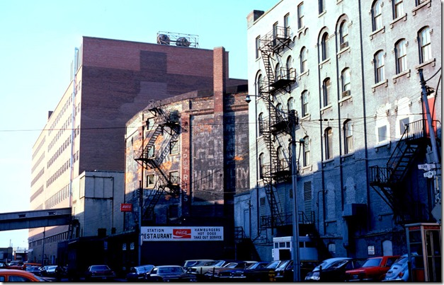 Walker House - view from York St below University Ave – January 7, 1975