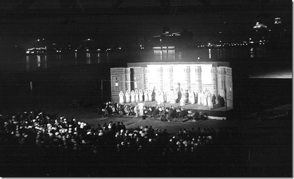 "Grand Opera ""Aida,"" stadium, Hanlan's Point, (Commercial Department) – 1936"