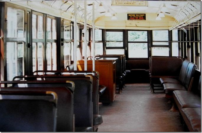 1920s Peter Witt streetcar, interior