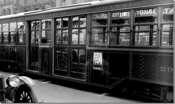 Streetcar advertising, (Commercial Department) – April 27, 1928