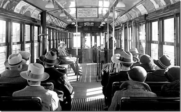Witt car, interior, (Commercial Department) – October 30, 1928
