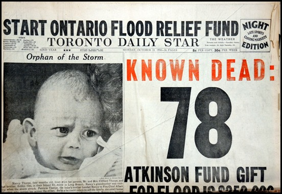 19. Oct. 18, 1954  Hurricane Hazel
