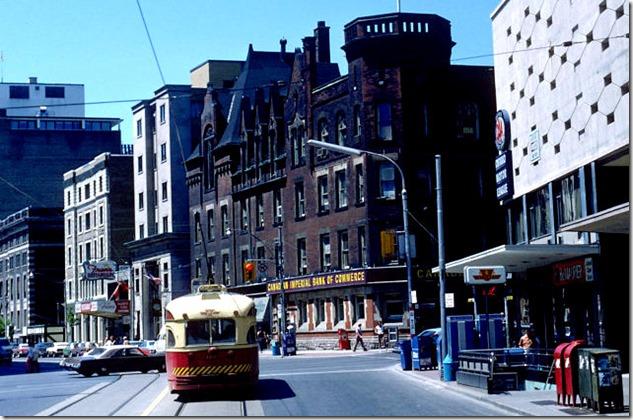View of College Street looking west at Yonge Street – June 7, 1981