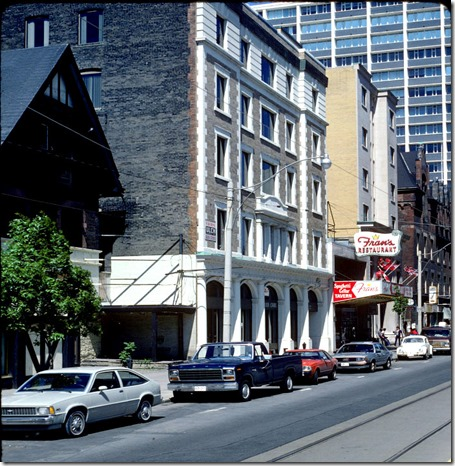 View of College Street near Yonge Street – May 31, 1981