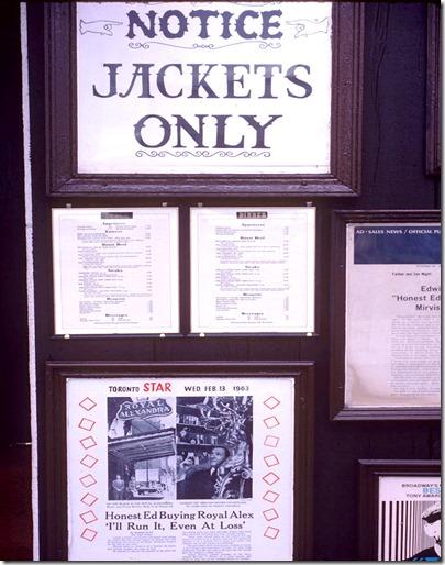 "King St W - ""Ed's Warehouse"" restaurant - signage – October 9, 1981"