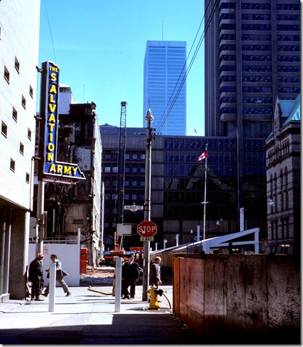 View of Salvation Army at James and Albert Streets – April 14, 1977