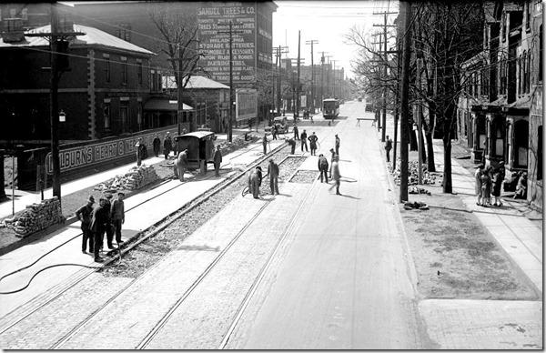 King St, west to Bathurst, (Way Department) – April 13, 1927