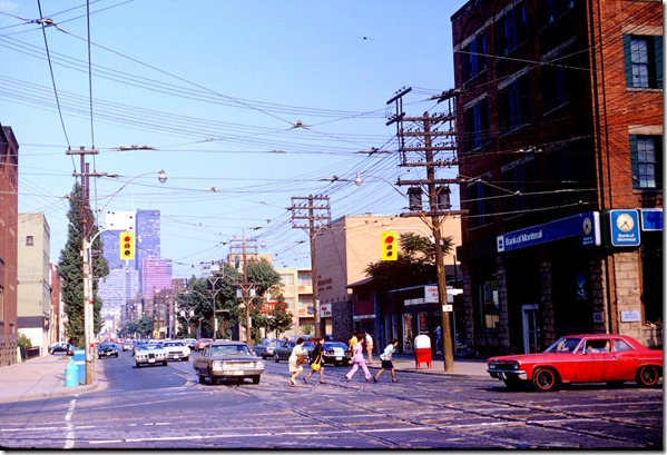 View of King Street West, looking east from Bathurst Street – August 25, 1973