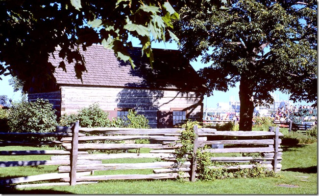 Side view of Scadding Cabin – August 20, 1972