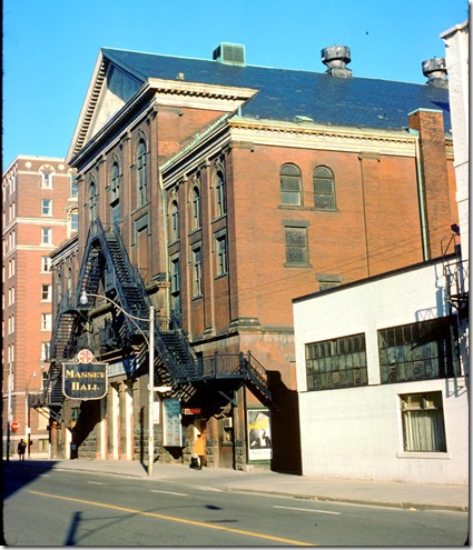Massey Hall - view from Shuter and Victoria – April 21, 1975