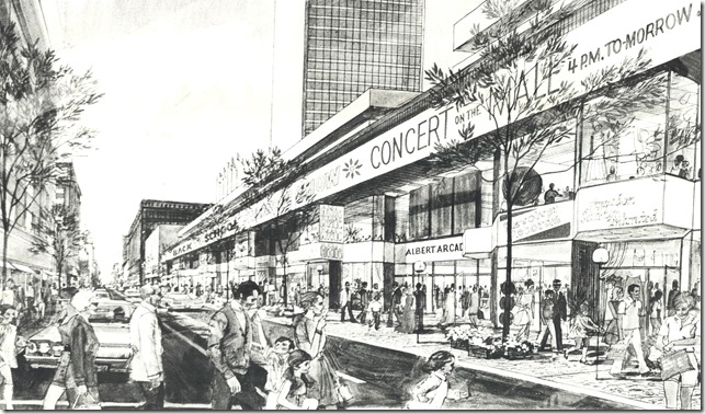 east side, Yonge St. sketch done in 1976, of concept when done in 1972. drawing 1972   tspa_0110003f[1]