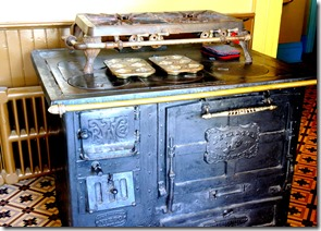wood stove kitchen