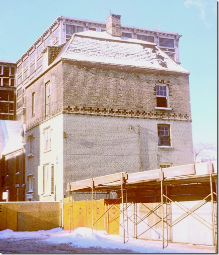 View of Scadding house, west of Yonge Street in Trinity Square – January 12, 1974
