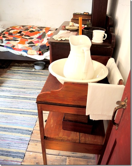 washstand in adults' room