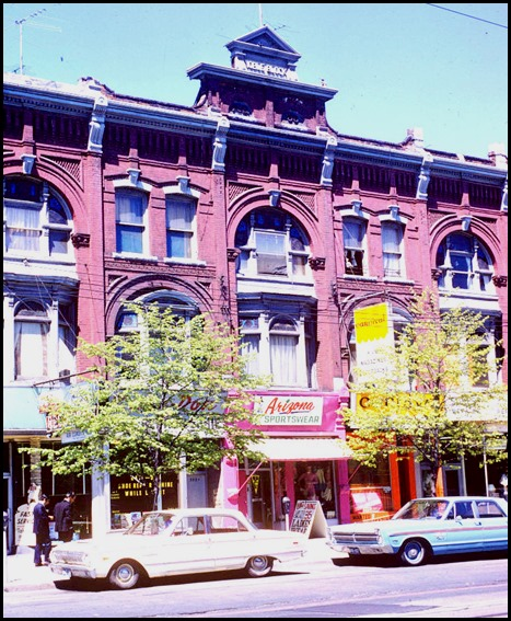 """Queen, east of Spadina, """"Noble Block"""" – May 17, 1971"""
