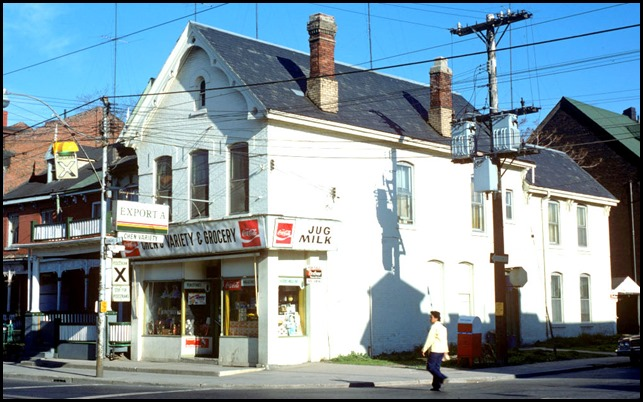View of variety store at the north-west corner of Ontario and Dundas Street East – May 13, 1977
